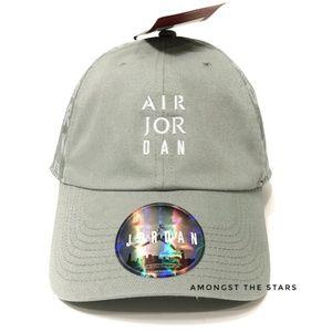 Nike Air Jordan Jumpman Green Strapback Hat Cap